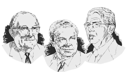 The namesakes of the Hartmann-Hirschman-Egan Award are shown in this illustration.